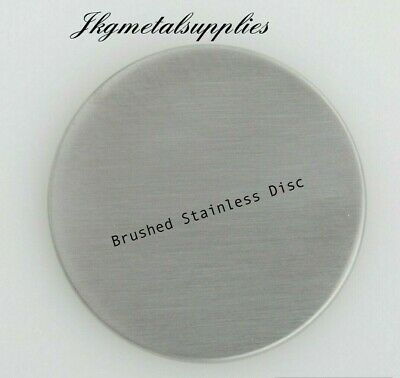 1.5mm thick -  BRUSHED STAINLESS STEEL DISCS -  grade 430 - many diameters