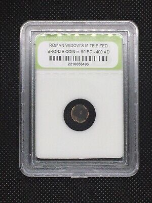 Authentic Ancient Roman Widow's Mite Sized Bronze Coin 50 BC - 400 AD ROMWMS20