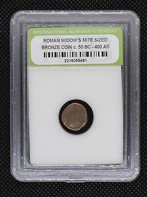 Authentic Ancient Roman Widow's Mite Sized Bronze Coin 50 BC - 400 AD ROMWMS03