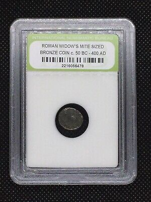 Authentic Ancient Roman Widow's Mite Sized Bronze Coin 50 BC - 400 AD ROMWMS13