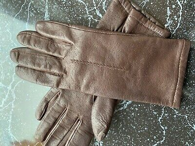marks and spencer Ladies Brown Leather Gloves