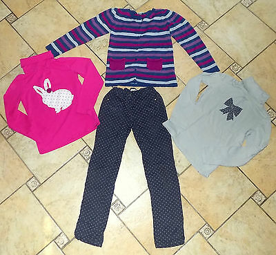 ENSEMBLE VERTBAUDET fille 12 ANS PANTALON + CARDIGAN + 2 SOUS PULL lot habits !!