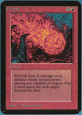 Fireball Alpha NM Red Common MAGIC THE GATHERING MTG CARD (ID# 98256) ABUGames