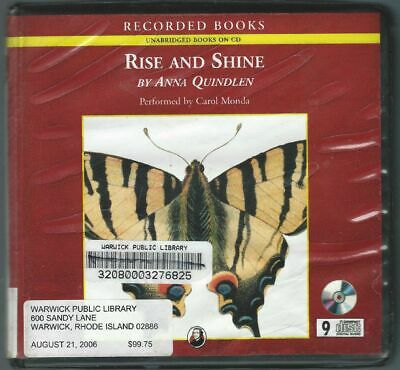 Rise and Shine by Anna Quindlen 9 CDs Audio Book