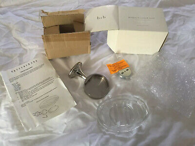 Pottery Barn Mercer Wall soap dish polished nickel New in box
