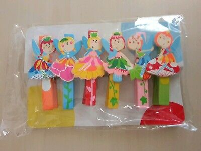 Wooden Pegs Fairies Pack of 6