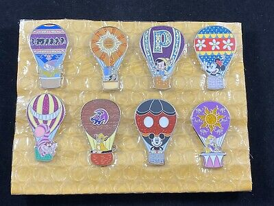 Disney 8 Pin Complete Set - Adventure is Out There Mystery - Hot Air Balloons