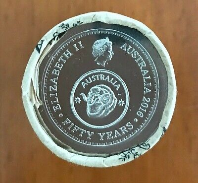 2016 UNC 50c RAM 50 Years Decimal Changeover Mint Roll Head/Tails