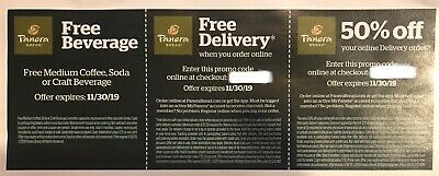 3 Panera Offers Up to $10 Off Delivery No Delivery & Beverage Charge