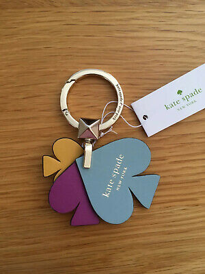 BNWT Kate Spade Leather Keyring RRP USD$39