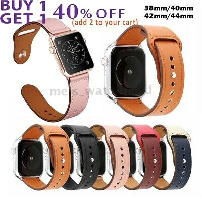Apple Watch Genuine Leather Band iWatch Strap Series 5 4 3 2 1 40/44mm 38/40mm