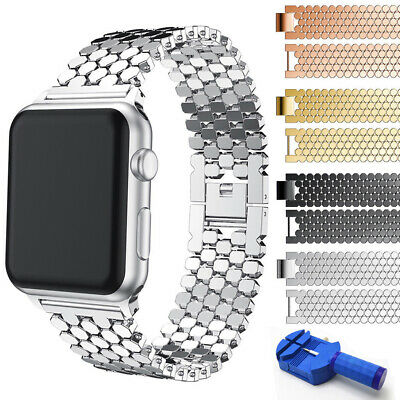 Stainless Steel iWatch Metal Strap Band For Apple Watch Series 4 3 2 1 38mm/42mm