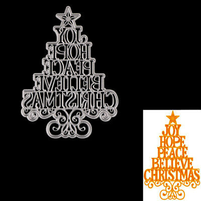 Christmas tree letters Metal Cut Die For DIY Scrapbook Album Paper Cards E&F