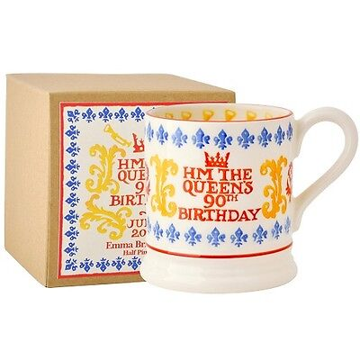 Emma Bridgewater Queen's 90th Birthday Spongeware Mug
