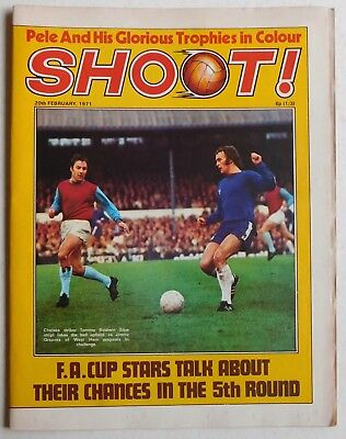 SHOOT Football Magazine - 20 February 1971 - Pele, Pat McMahon