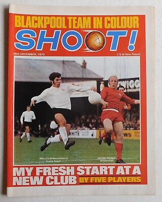 SHOOT Football Magazine - 26 December 1970 - Blackpool, Steve Kember