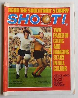 SHOOT Football Magazine - 21 March 1970 - Dave Thomas, Johnny Vincent