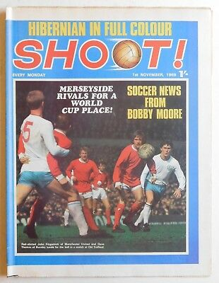 SHOOT Football Magazine - 1 November 1969 - Hibernian, Peter Noble