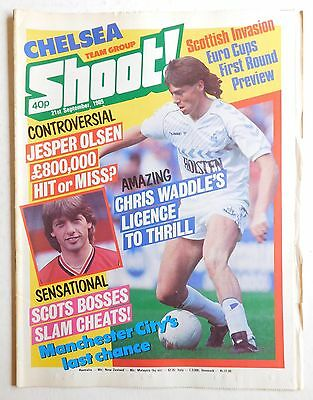 SHOOT Football Magazine - 21 September 1985 - Chelsea, Ian Stewart