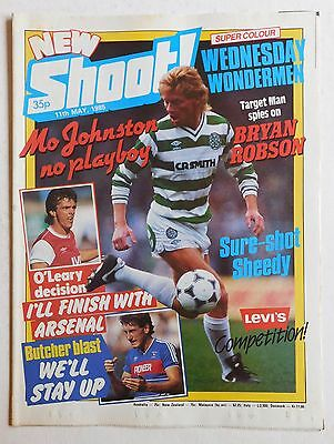 SHOOT Football Magazine - 11 May 1985 - Sheffield Wednesday, Bryan Robson