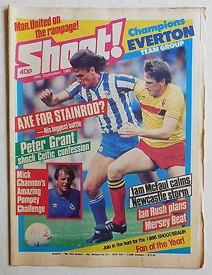 SHOOT Football Magazine - 28 September 1985 - Everton, Joe McLaughlin