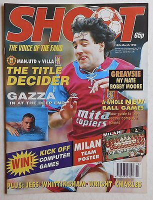 SHOOT Football Magazine - 13 March 1993 - AC Milan, Bobby Moore