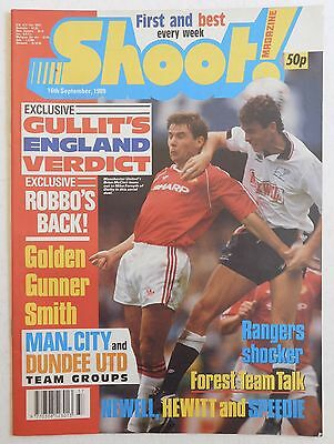 SHOOT Football Magazine - 16 September 1989 - Manchester City, Dundee United