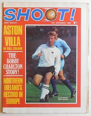 SHOOT Football Magazine - 15 November 1969 - Aston Villa, Alan Skirton