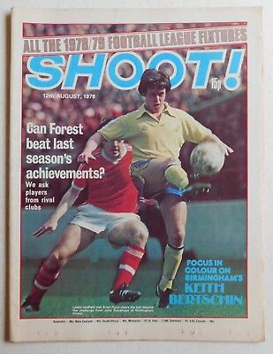 SHOOT Football Magazine - 12 August 1978 - Steve Daley, David Langan