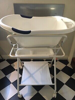 Baby Bath Tub And Stand White Love N Care Deluxe
