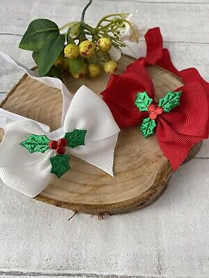 Christmas Bow Baby Headband Red Holly Baby Girl Hair Accessories