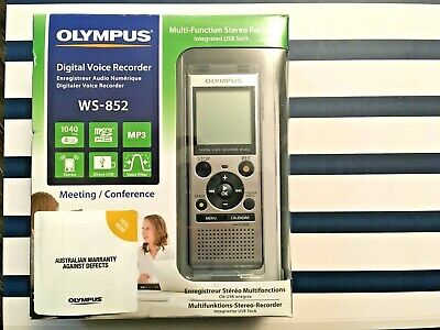Olympus WS-852 Stereo Mic Voice Recorder Win/Mac w stand USB & microSD RRP $99