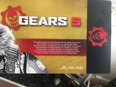 Gears 5 Ultimate, Gears Of war Ultimate And GoW 2, 3 and 4. Xbox One Brand New