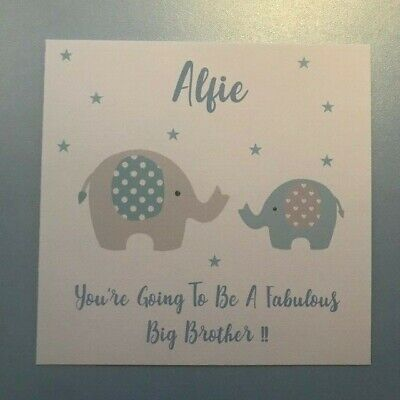 Personalised New Big Brother/Sister Little Brother/Sister Card - ANY COMBINATION