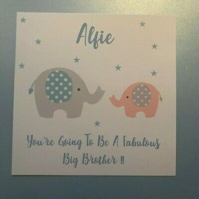 Personalised New Big Brother/Sister & Little Sister/Brother-ANY COMBINATION
