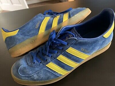 Vintage Mens Adidas Gazelle Indoors In Sweden Blue And Yellow Size 10