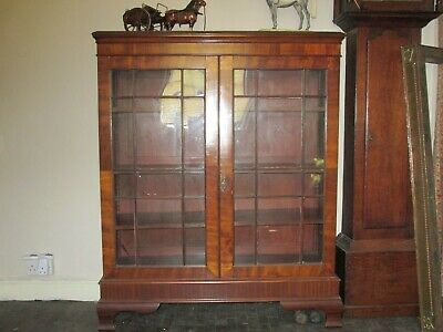 Antique Late Georgian Display, China, Drinks Cabinet Bookcase, Mahogany