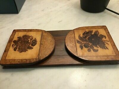 Antique Tunbridge ware marquetry inlaid extending folding bookstand book slide