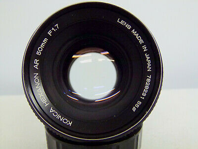 Konica Hexanon AR 50mm F1.7 Konica Mount QUALITY FAST LENS EXCELLENT!