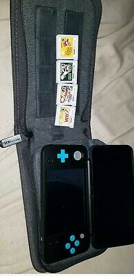 Nintendo 2DS Xl with games - Black/Turquoise