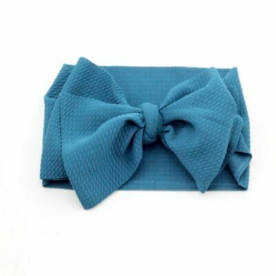 Baby Large Bow Headband Big Bow Knot Head Wrap Kids Bow Cotton Wide Turbans Gift