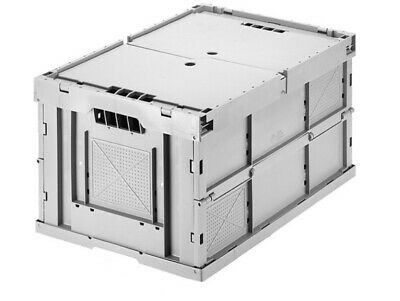 Large Collapsible Grey Stacking Heavy Duty Storage Boxes 600x400x 330