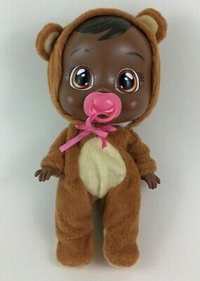 "Cry Babies Bonnie Baby 12"" Doll Bear Costume AA Real Crying Toy IMC Toys Tested"