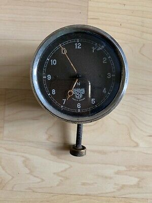 Vintage Smiths car clock (or motorbike),1930s, 8-day wind-up, working.