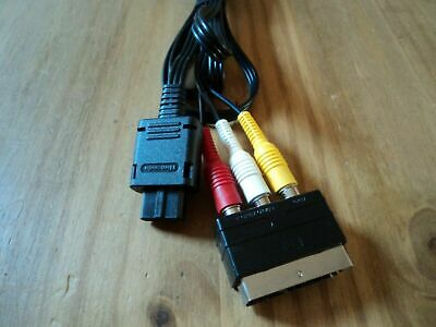Official AV Audio Video TV Cable Lead For Nintendo Gamecube SNES N64 inc. scart!