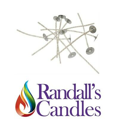 Tabs 15mm For Candle Making by Randalls Candles 200 Wick Candle Sustainers