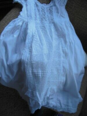 Babys Christening gown,Victorian,cotton with cotton lace