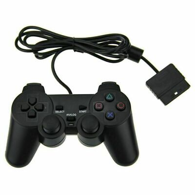 NEW Wired Wireless Black Dual Shock Controler for PS2 PlayStation Joypad Gamepad