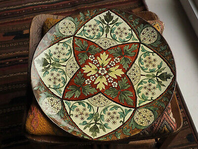 Arts & Crafts Ceramic Charger/Plate Handpainted Studio Pottery