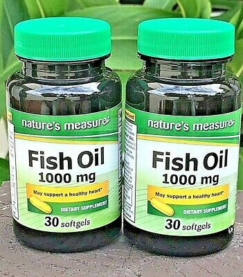 2 OMEGA-3 Fish Oil HIGH EPA DHA Non GMO By Natures Measure Softgels With IRON